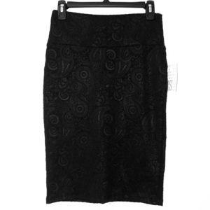 LuLaRoe Jacquard Paisley Cassie Skirt